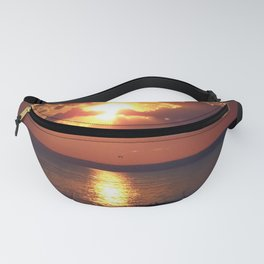 Flaming sky over Sea - Nature at its best Fanny Pack