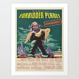Vintage poster - Forbidden Planet Art Print