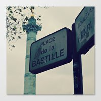 bastille Canvas Prints featuring Bastille by iokk