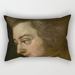 Wolfgang Amadeus Mozart (1756 -1791) by Joseph Lange Rectangular Pillow
