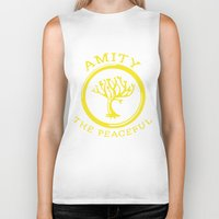 divergent Biker Tanks featuring Divergent - Amity The Peaceful by Lunil