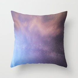 Pink Glitter Galaxy Throw Pillow