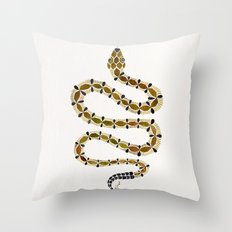 Olive Serpent Throw Pillow