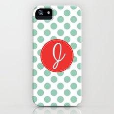 Monogram Initial J Polka Dot Slim Case iPhone (5, 5s)