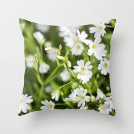Stellaria holostea Throw Pillow