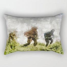Infantry Attack, World War Two Rectangular Pillow