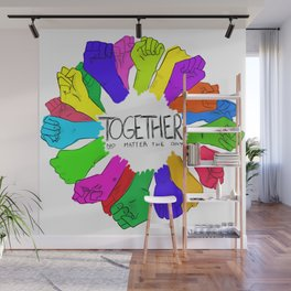 Together no matter the day Wall Mural