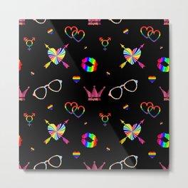 LGBTQ icons pattern Metal Print
