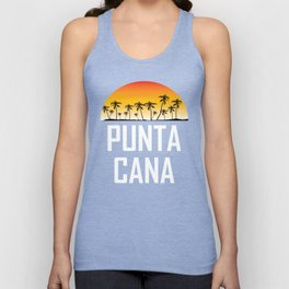 Punta Cana Sunset And Palm Trees Beach Unisex Tank Top