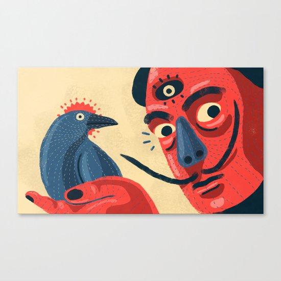 Bird vs Salvador Canvas Print