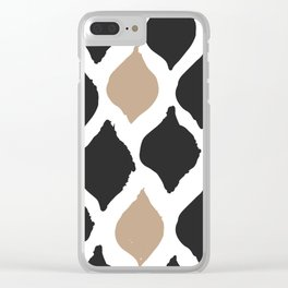 twocolors pattern Clear iPhone Case