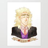 jjba Art Prints featuring SPEED by The SkeletEgg Foundation