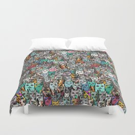 Gemstone Cats Duvet Cover