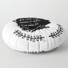Audre Lorde Feminism Floor Pillow