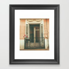 Balcon Framed Art Print