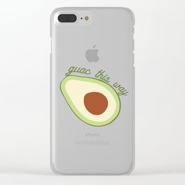 Guac This Way Clear iPhone Case