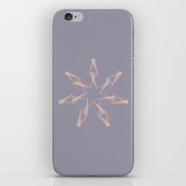 Pastel XMas Design I iPhone Skin