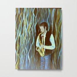 Bluesy Saxaphone Euphoria Metal Print