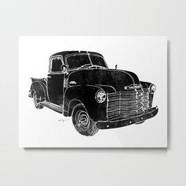 Vintage Chevy 3100 Truck Metal Print