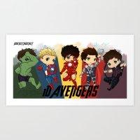 1d Art Prints featuring 1D Avengers by RockitRocket