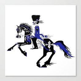 The Queen of Spades - The Horseman Canvas Print