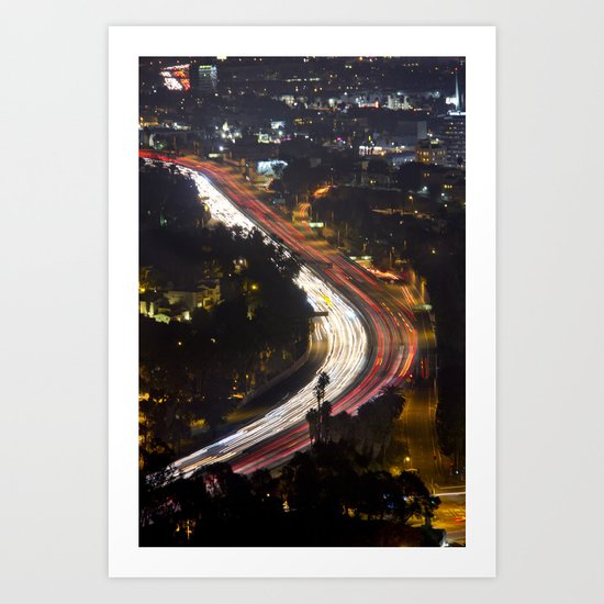 Night Freeway Art Print