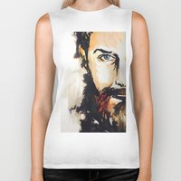 neil gaiman Biker Tanks featuring Simon Neil  by madbiffymorghulis