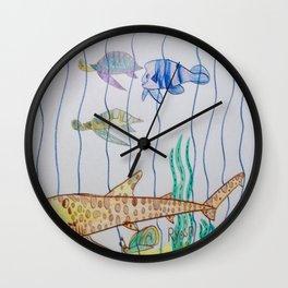 Leopard Shark & Friends Wall Clock