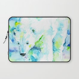 POLAR BEAR - watercolor portrait Laptop Sleeve