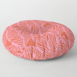 petaluma: pink leaf pattern Floor Pillow
