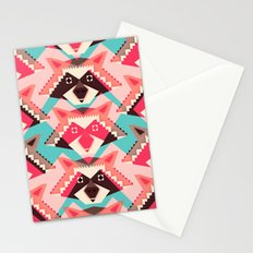 Raccoons and hearts Stationery Cards