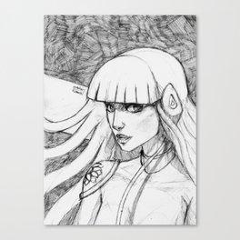 Doll 3 black & white Canvas Print