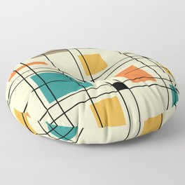 1950's Abstract Art Floor Pillow