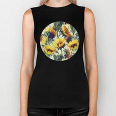 Sunflowers Forever Biker Tank