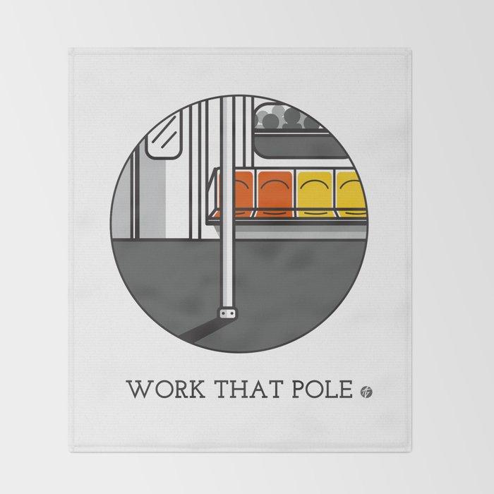 Work That Pole Throw Blanket