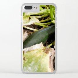 Zucchini in garden Clear iPhone Case