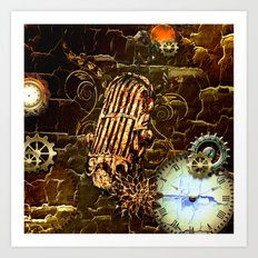 Steampunk, micropphone Art Print