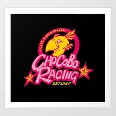 Chocobo Racing Art Print