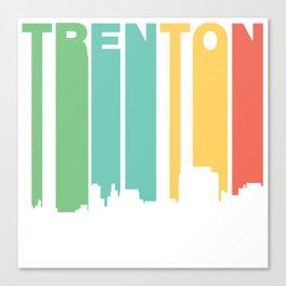 Retro 1970's Style Trenton New Jersey Skyline Canvas Print
