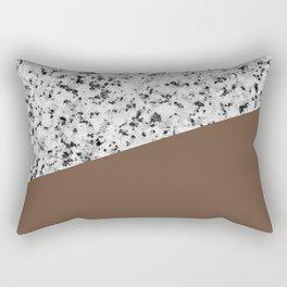 Granite with Emperador Color Rectangular Pillow
