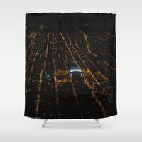 blackhawks Shower Curtains featuring United Center: A Standout Arena (Chicago Architecture Collection) by Bob Benenson Photo Art