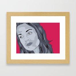 Elsa Pop Zombie Framed Art Print