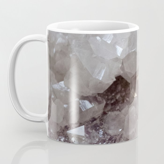 Silver & Quartz Crystal Coffee Mug