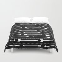 arrows Duvet Covers featuring Arrows by Hipster