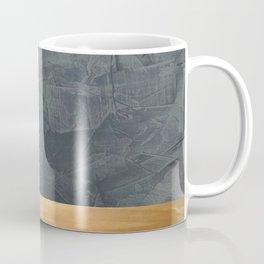 Slate Gray Stucco w Shiny Copper Metallic Trim - Faux Finishes - Rustic Glam - Corbin Henry Coffee Mug