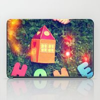 home sweet home iPad Cases featuring HOME by Julia Kovtunyak