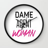 agent carter Wall Clocks featuring Dame, Agent, Woman. by Peggy Carter