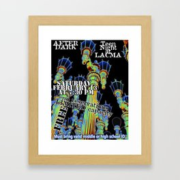 LACMA Teen Night poster entry Framed Art Print