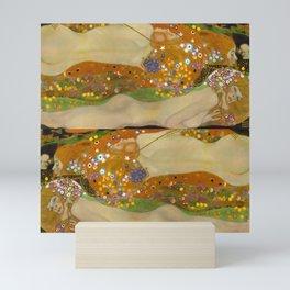 """Gustav Klimt """"Water Serpents"""" Mini Art Print"""