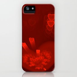 Red Hearts St. Valentine's Galentine's Sweetest Day love Burgundy Bordo Vinous Ruby Garnet Pattern iPhone Case